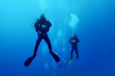 Погружения с аквалангом на озере